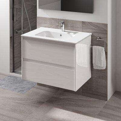 Ambra 40 Single Bathroom Vanity Set Base Finish: Gloss White