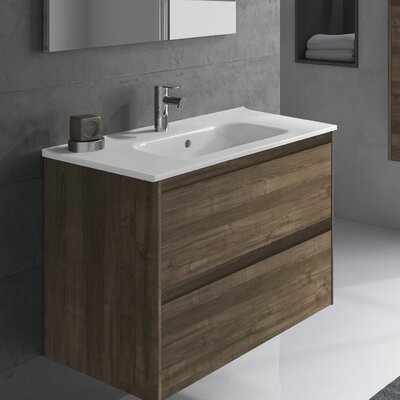 Ambra 40 Single Bathroom Vanity Set Base Finish: Samara Ash