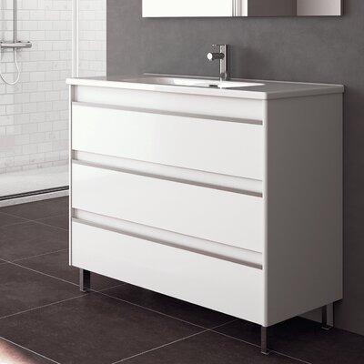 Belle 40 Single Bathroom Vanity Set Base Finish: Gloss White