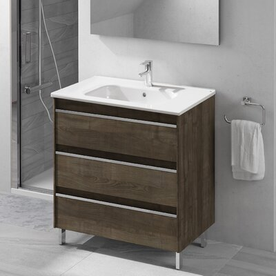 Belle 32 Single Bathroom Vanity Set Base Finish: Samara Ash