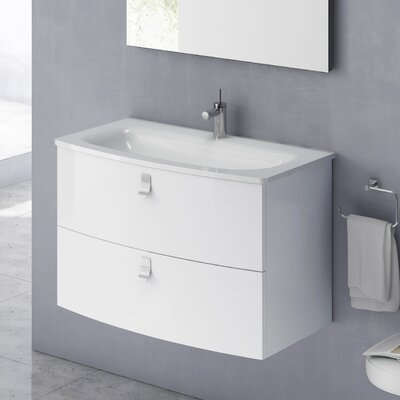 Rondo 32 Single Bathroom Vanity Set Base Finish: Gloss White