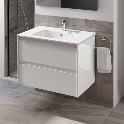 Ambra 24 Single Bathroom Vanity Set Base Finish: Gloss White