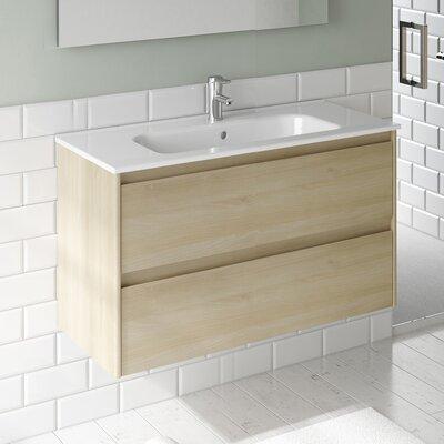 Ambra 24 Single Bathroom Vanity Set Base Finish: Nordic Oak