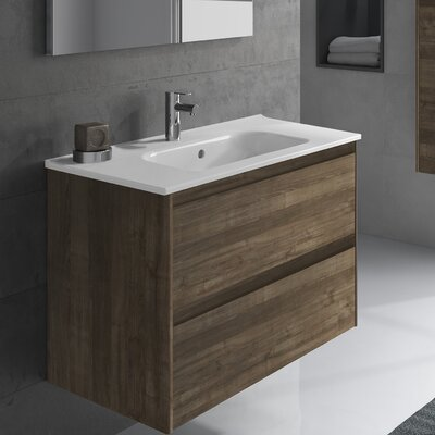 Ambra 32 Single Bathroom Vanity Set Base Finish: Samara Ash