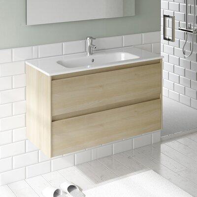 Ambra 40 Single Bathroom Vanity Set Base Finish: Nordic Oak