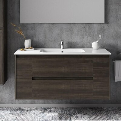 Ambra 47 Single Bathroom Vanity Set Base Finish: Samara Ash