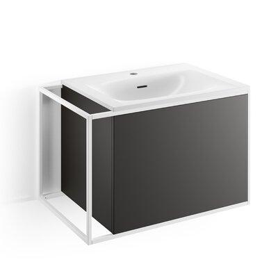 Gerla 28 Single Bathroom Vanity Set Faucet Mount: With Faucet Hole