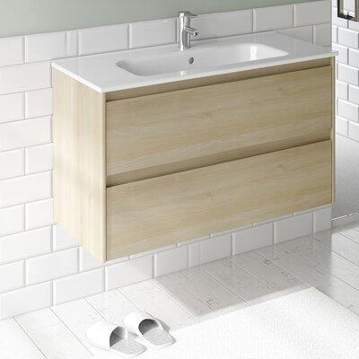 Ambra 32 Single Bathroom Vanity Set Base Finish: Nordic Oak
