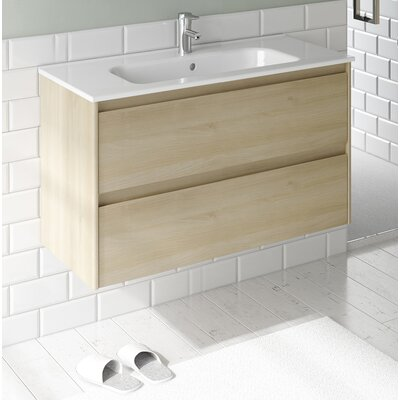 Ambra 24 Single Bathroom Vanity Set Base Finish: Nordic Oak