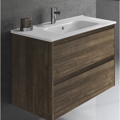 Ambra 24 Single Bathroom Vanity Set Base Finish: Samara Ash