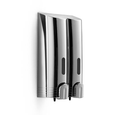 Otel 5.3 x 9.7 Wall Mount Double Soap Dispenser in Chrome