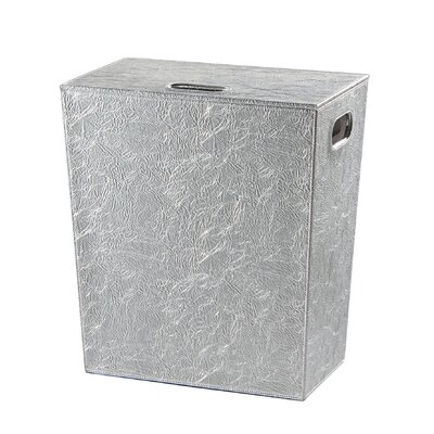 Perle Hamper With Lid Finish-chrome