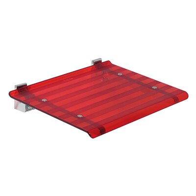 Leo Wall Mounted Shower Seat Finish: Red