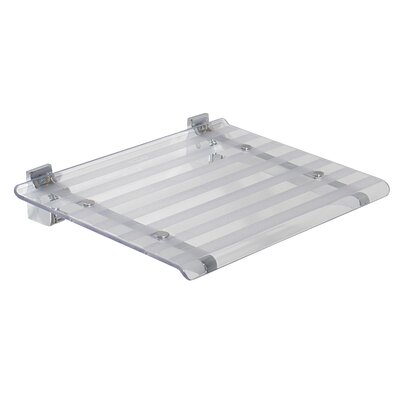 Leo Wall Mounted Shower Seat Finish: Transparent