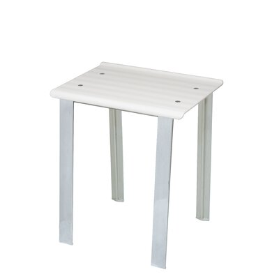 Leo Free Standing Shower Seat Finish: White