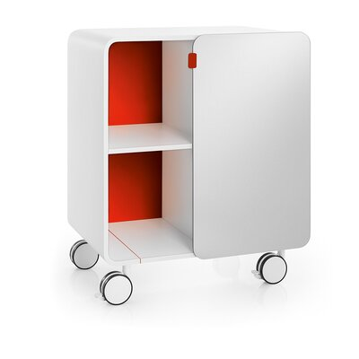 WS Bath Collections Linea Bej Two Shelf Storage Unit with Wheels - Color: White / Red at Sears.com