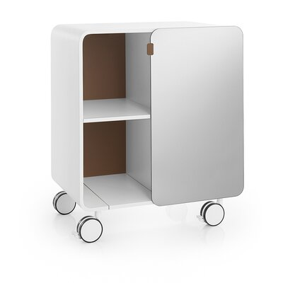 WS Bath Collections Linea Bej Two Shelf Storage Unit with Wheels - Color: White / Rust at Sears.com