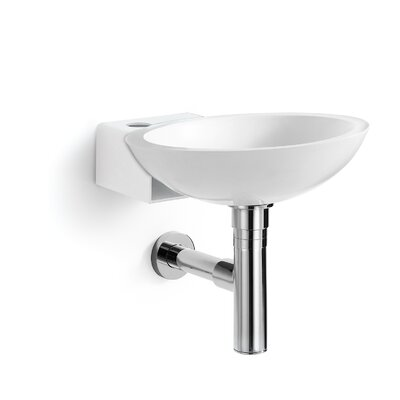 Ciuci Circular Vessel Bathroom Sink Sink Finish: White
