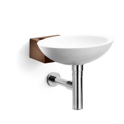 Ciuci Circular Vessel Bathroom Sink Sink Finish: White / Rust