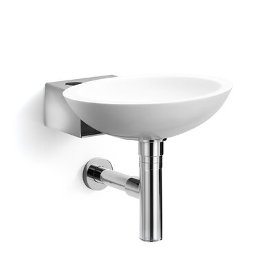 Linea Ciuci 14 Wall Mounted Bathroom Sink Sink Finish: White / Stainless Steel