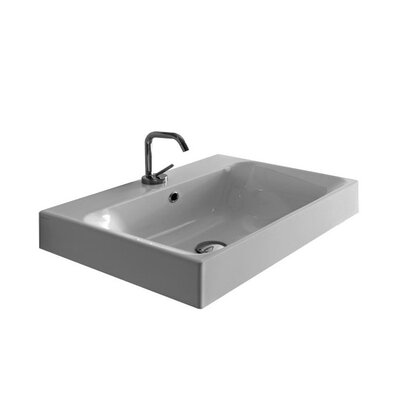 Kerasan Cento 31.5 Wall Mount Bathroom Sink with Overflow