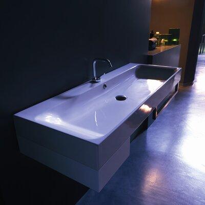 Kerasan Cento 47.2 Wall Mount Bathroom Sink with Overflow