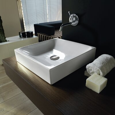 Cento Ceramic Square Vessel Bathroom Sink