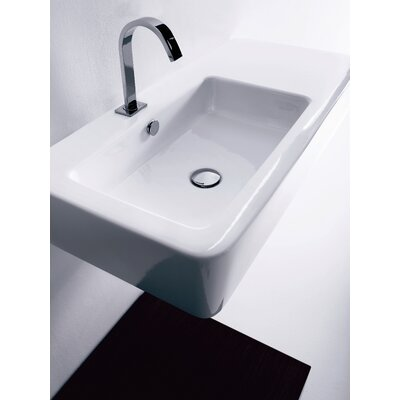 Ego Rectangular Vessel Bathroom Sink with Overflow
