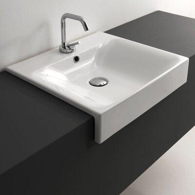 Kerasan Cento Rectangular Vessel Bathroom Sink with Overflow