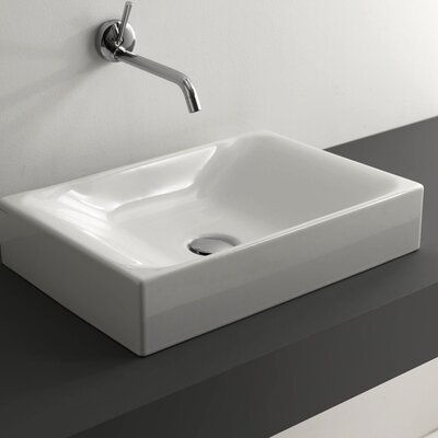 Cento Ceramic Rectangular Vessel Bathroom Sink
