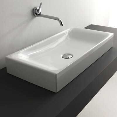 Kerasan Cento Rectangular Vessel Bathroom Sink