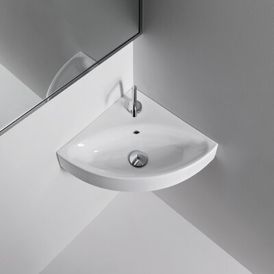 Cento Ceramic Ceramic Specialty Wall-Mount Bathroom Sink