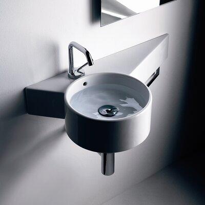 Tao Ceramic 12 Wall Mount Bathroom Sink with Overflow