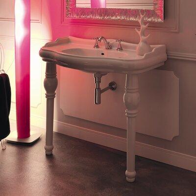 Kerasan Retro 39 Single Console Bathroom Vanity Set Faucet Mount: One Faucet Hole
