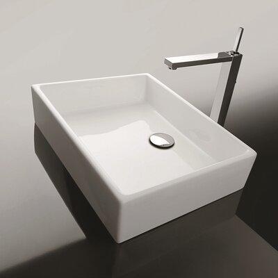 Ceramica II Unlimited Ceramic Rectangular Vessel Bathroom Sink