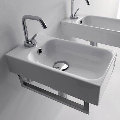 Kerasan Cento 9.8 Wall Mount Bathroom Sink with Overflow