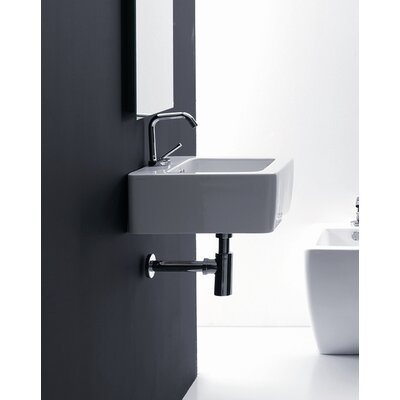 Ego Ceramic 24 Wall Mount Bathroom Sink with Overflow