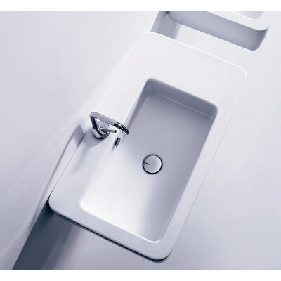 Kerasan Ego 29.5 Wall Mount Bathroom Sink with Overflow