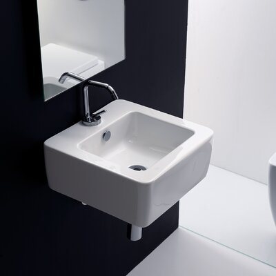 Ego Square Vessel Bathroom Sink with Overflow