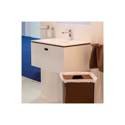 Linea Ciacole 28 Single Wall Mounted Bathroom Vanity Set Base Finish: White / Rust