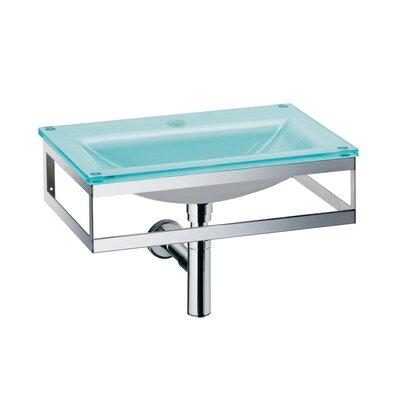 Pocia Glass 21 Wall Mount Bathroom Sink Faucet Mount: Single Hole
