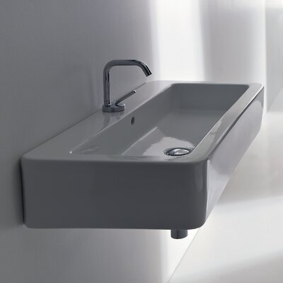 Ego Rectangular Vessel Bathroom Sink with Overflow