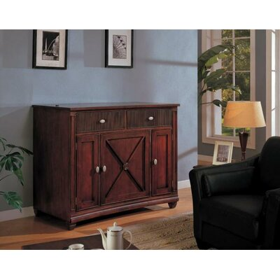 Cheap Sunrise Furniture Lewisbury 56″ TV Stand with Lift Rack in Warm Walnut (FET1038)