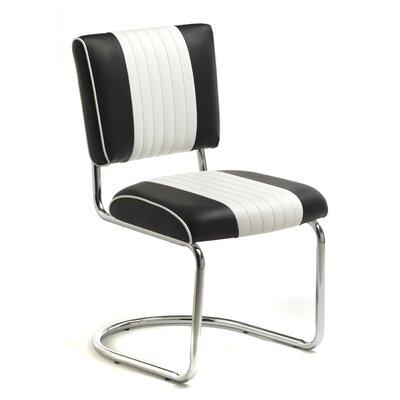 Retro Racer Back Side Chair (Set of 2) Upholstery: Omni Scarlet