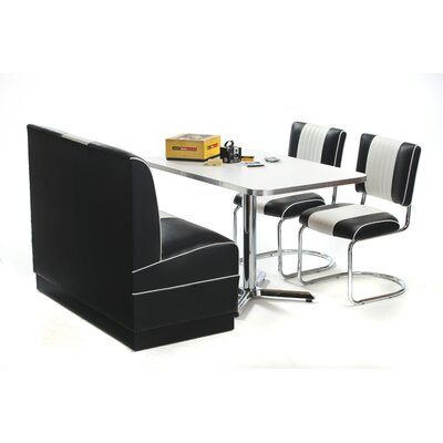 Style Chrome Retro Dining Table Chairs DINING TABLES SETS