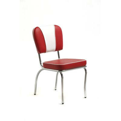 Classic Retro Retro Sweetheart Dining Chair In Bright Chrome Set Of 4 Vinyl
