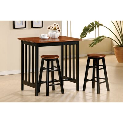 Rent 3 Piece Bar Table Set in Black and ...