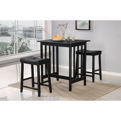 Easy financing 3 Piece Bar Table Set in Black...
