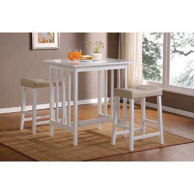 Bad credit financing 3 Piece Counter Height Bar Table Se...