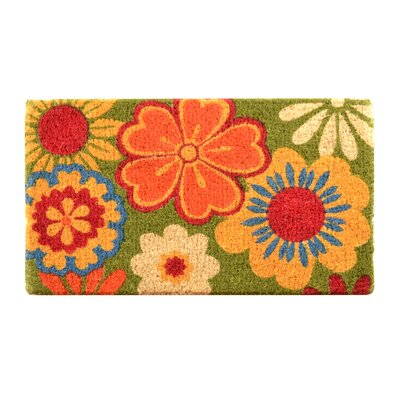 Fenner Summer Flower Coir Doormat